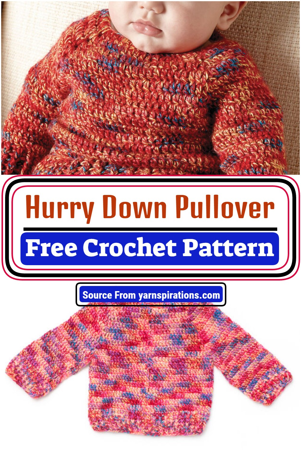 Hurry Down Crochet Pullover