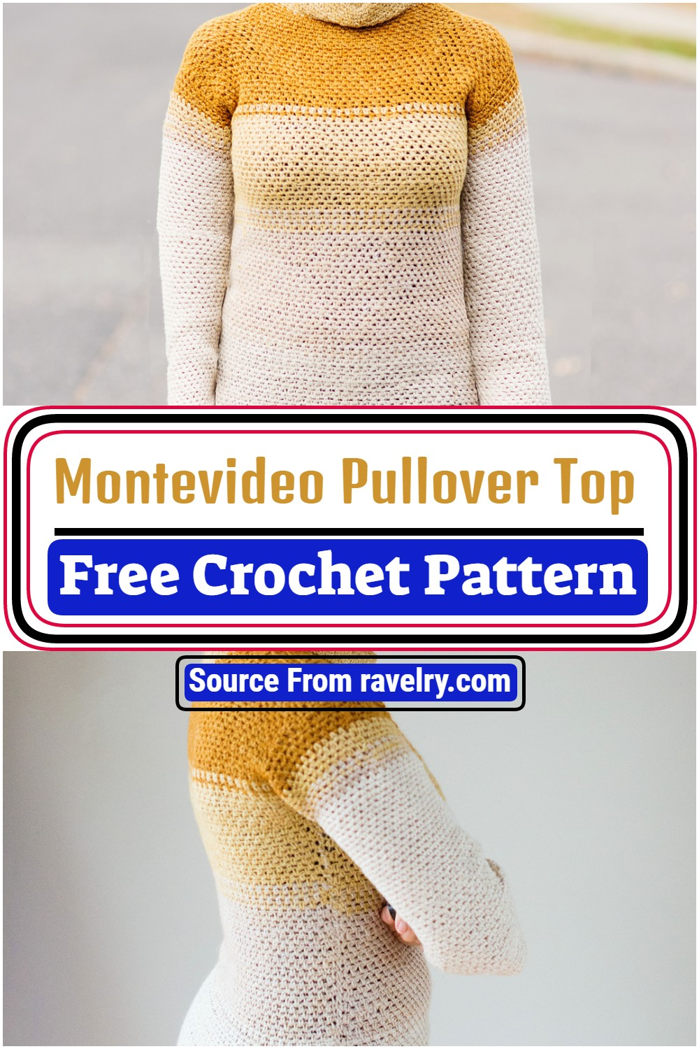 Montevideo Pullover Top Pattern