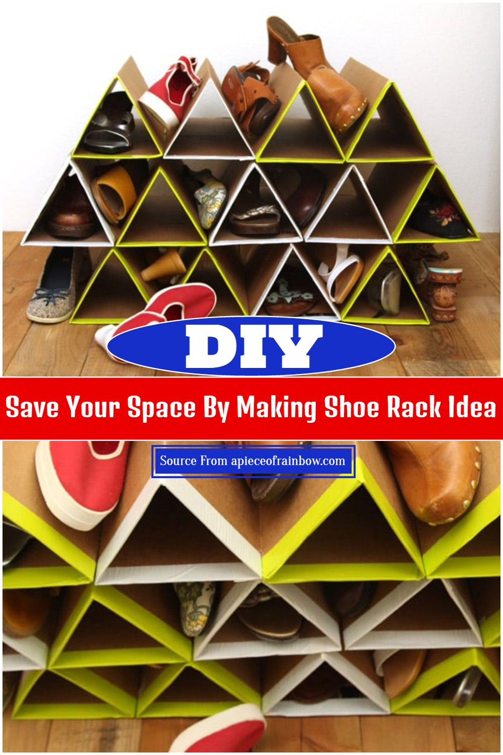 Save Your Space By Making DIY Shoe Rack Idea