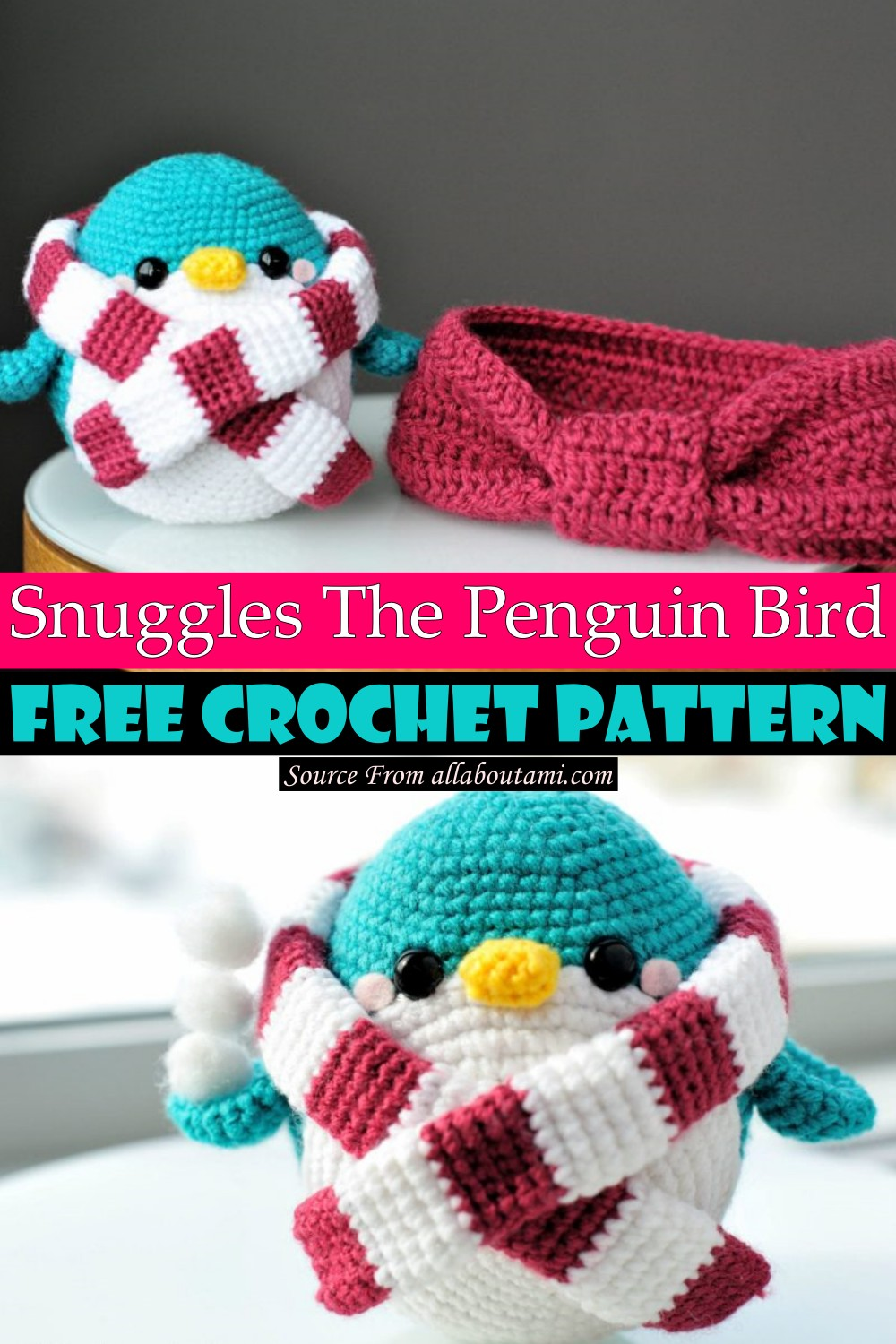 Snuggles The Penguin Pattern