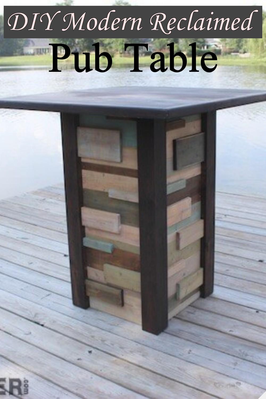 DIY Modern Reclaimed Pub Table