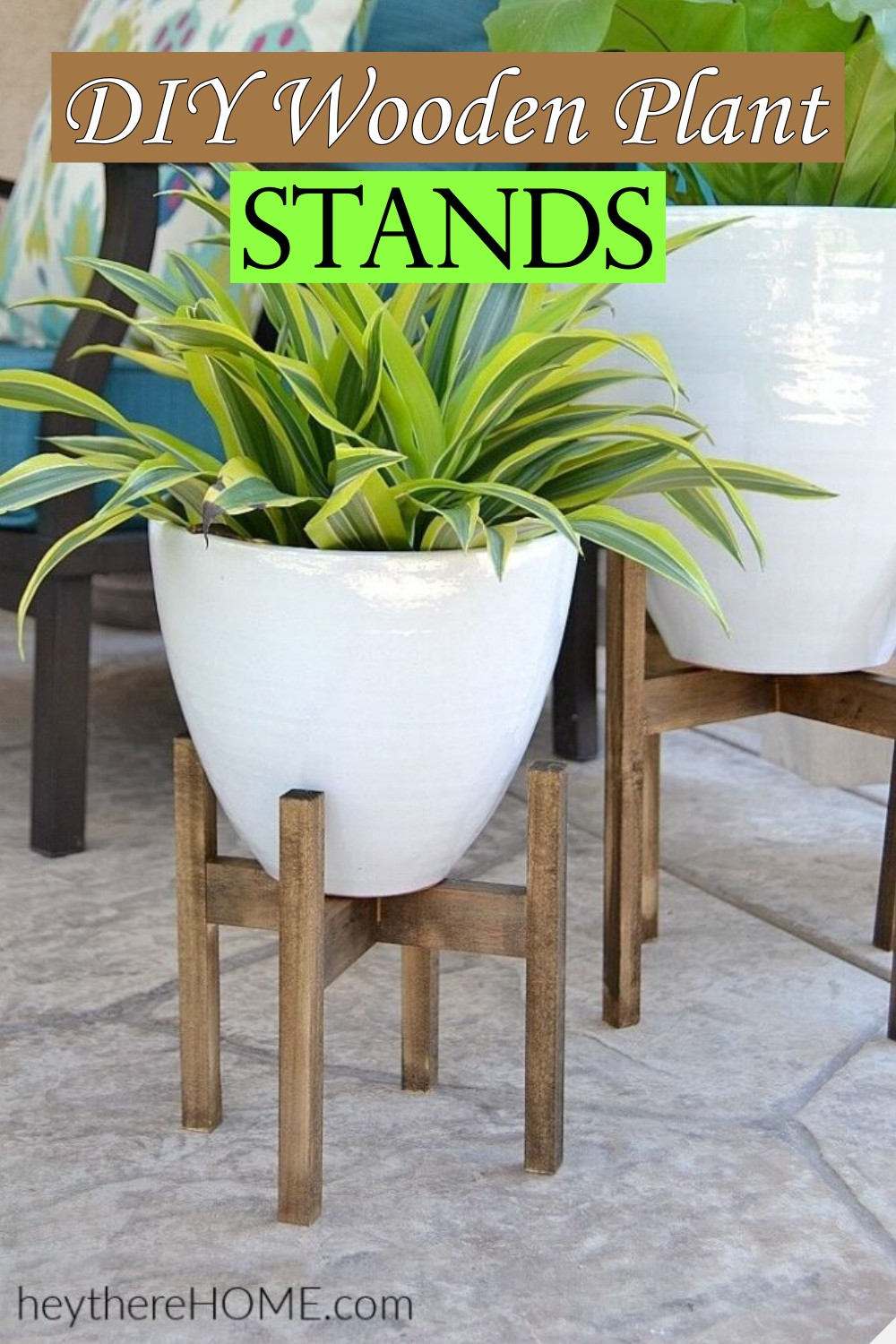 DIY Wooden Plant Stands