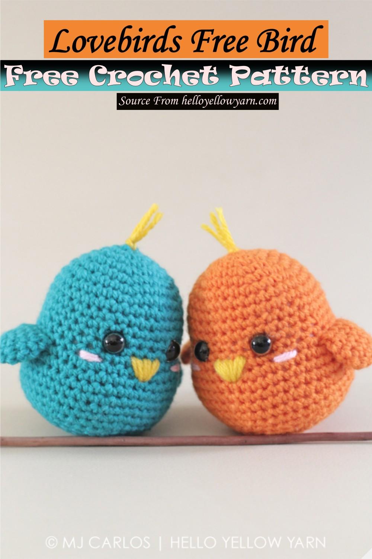 Free Crochet Lovebirds Free Bird Pattern