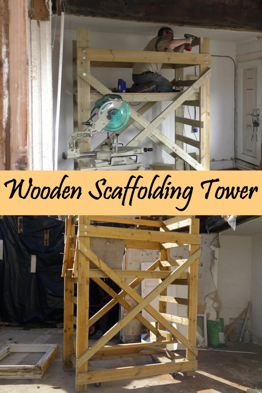 Wooden Scaffolding Tower