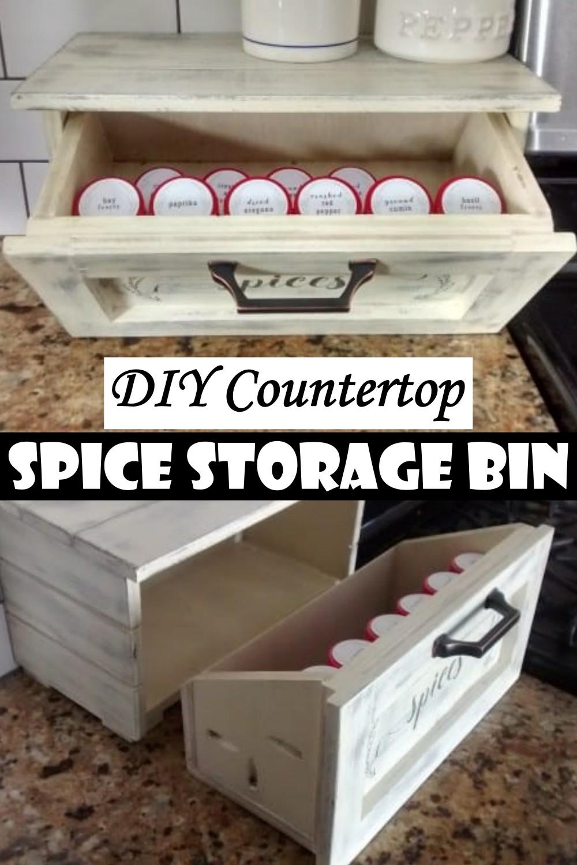 DIY Countertop Spice Storage Bin