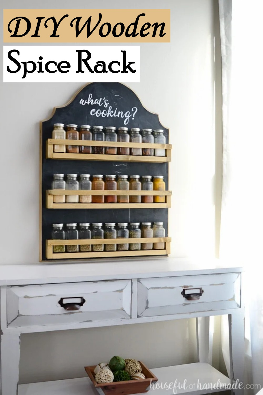 Wooden Organizer for your spice jars