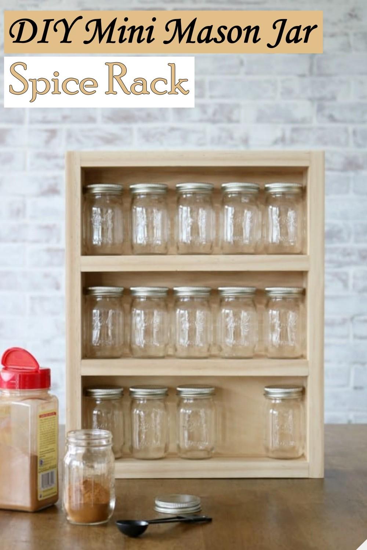 DIY Mini Mason Jar Spice Rack