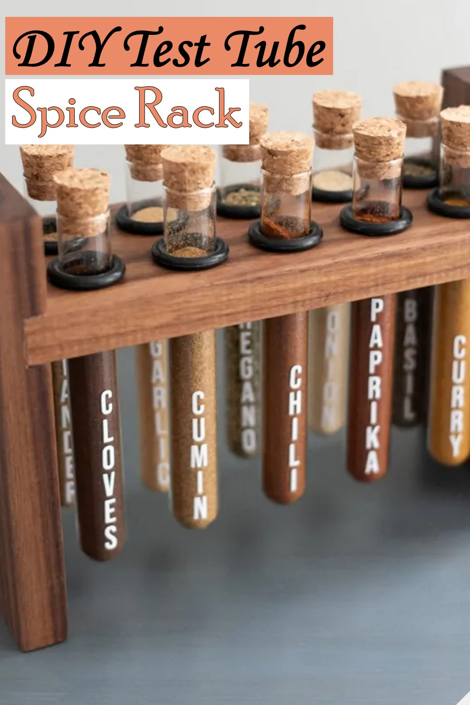 Test Tube inspired Spice organizer idea