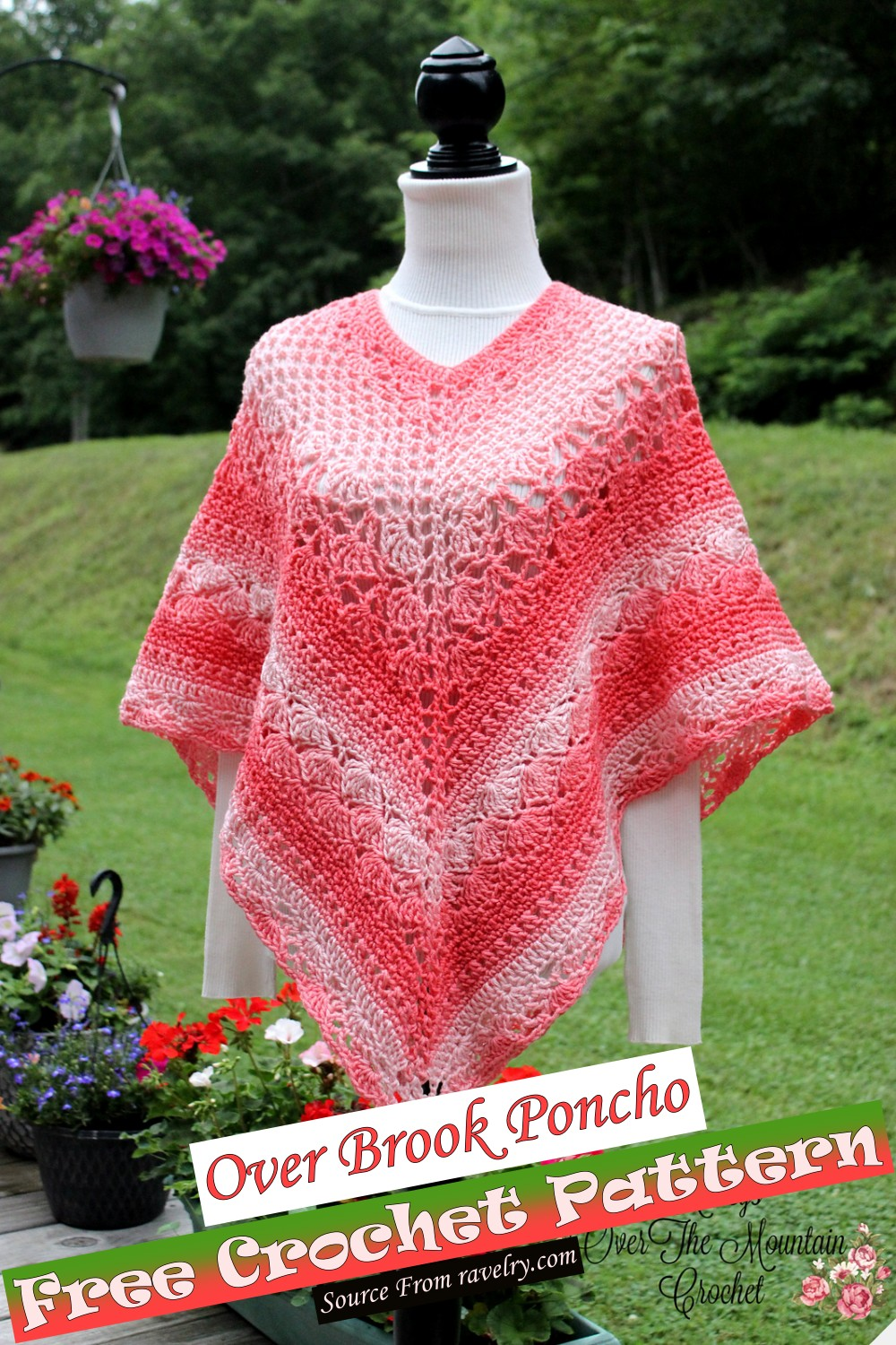Free Crochet Over Brook Poncho