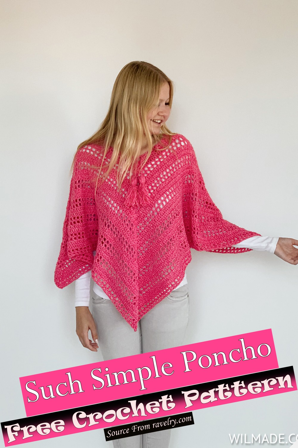 Free Crochet Such Simple Poncho