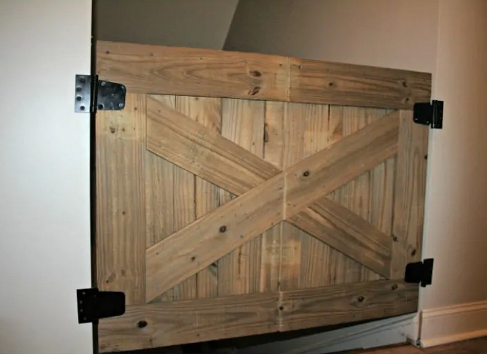Baby Gate With A Rustic Flair