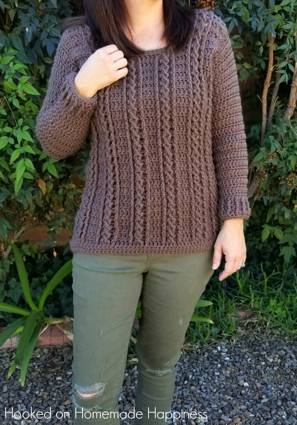 Cable Crochet Sweater Pattern