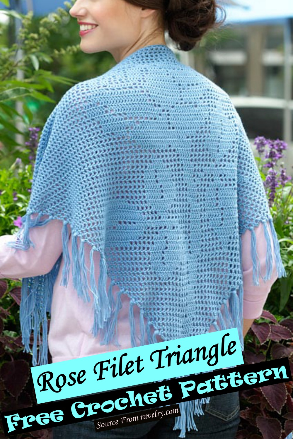 Rose Triangle poncho Pattern