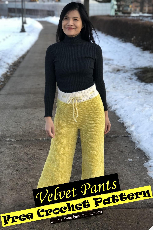 Crochet Velvet Pants Pattern