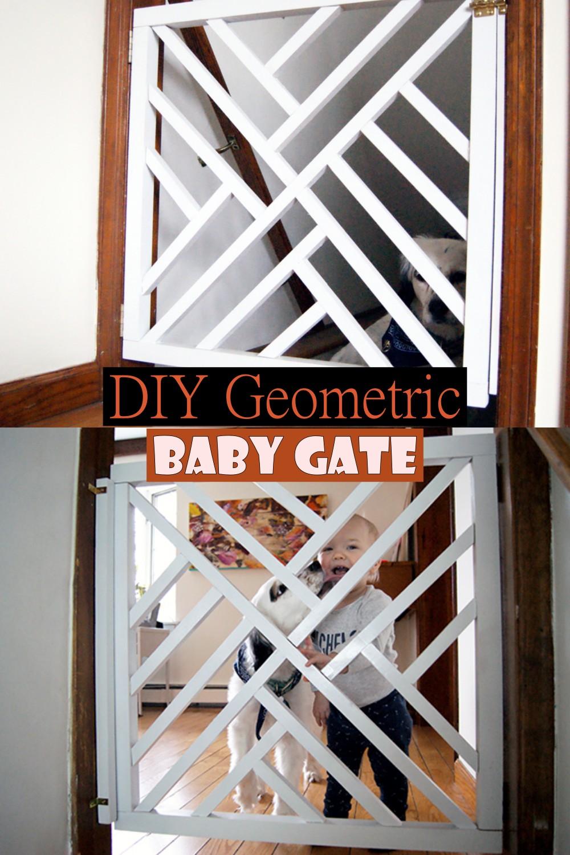 DIY Geometric Baby Gate