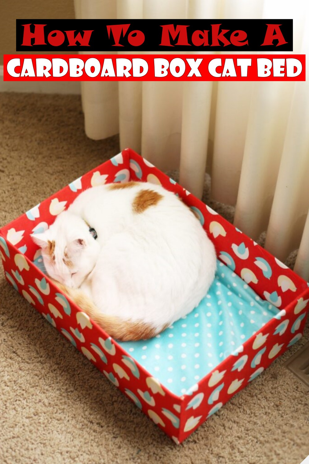 How To Make A Cardboard Box Cat Bed