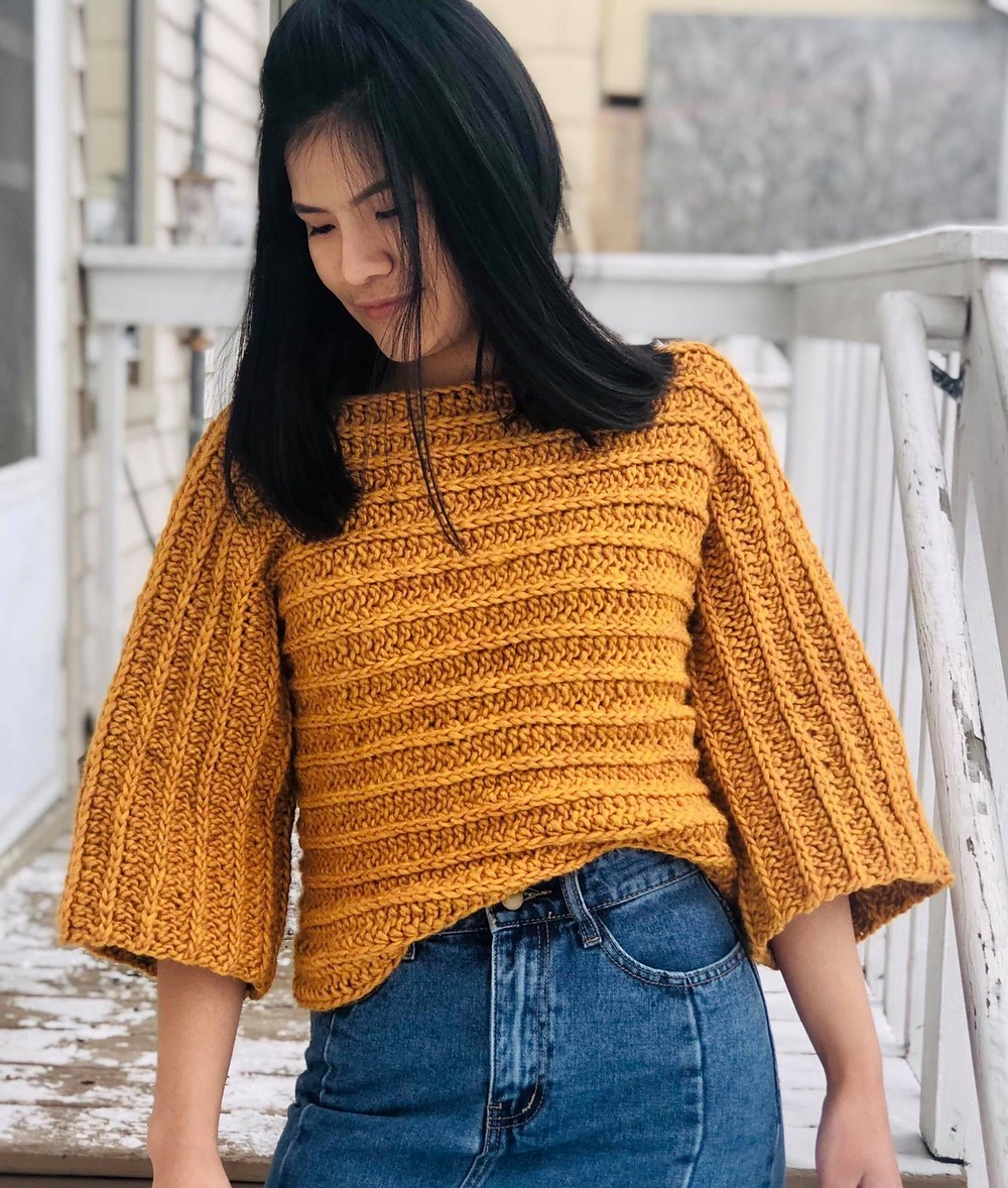 Sleeve Pull Over Free Crochet Sweater Pattern