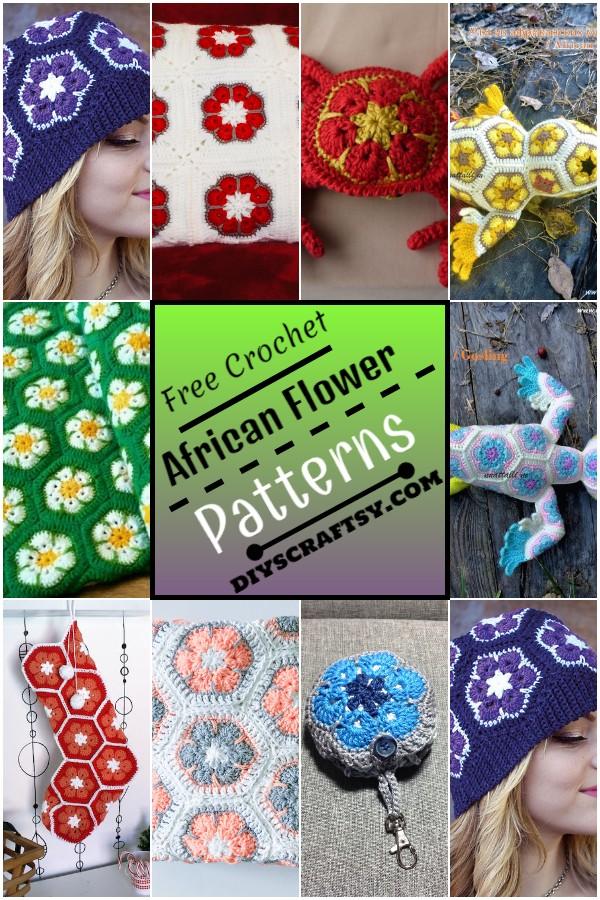 African Flower Crochet Patterns 1