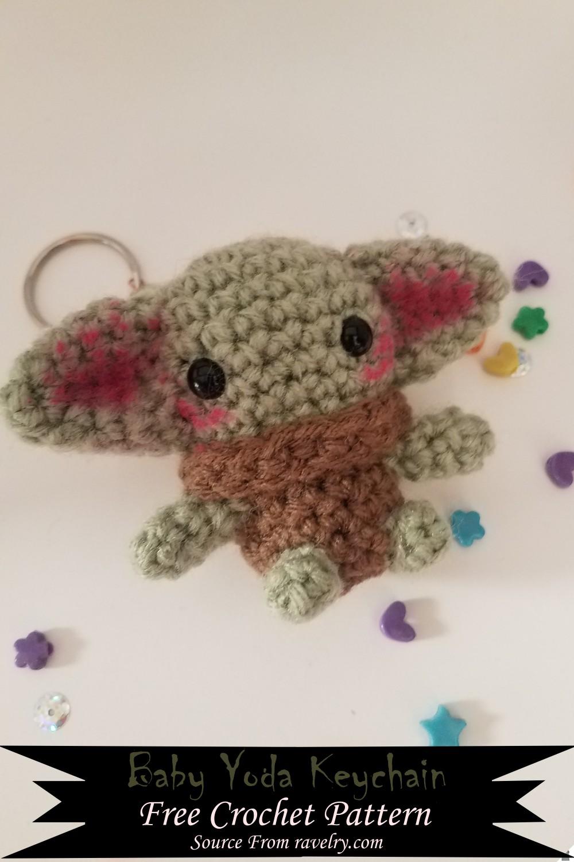 Crochet Baby Yoda Keychain Pattern