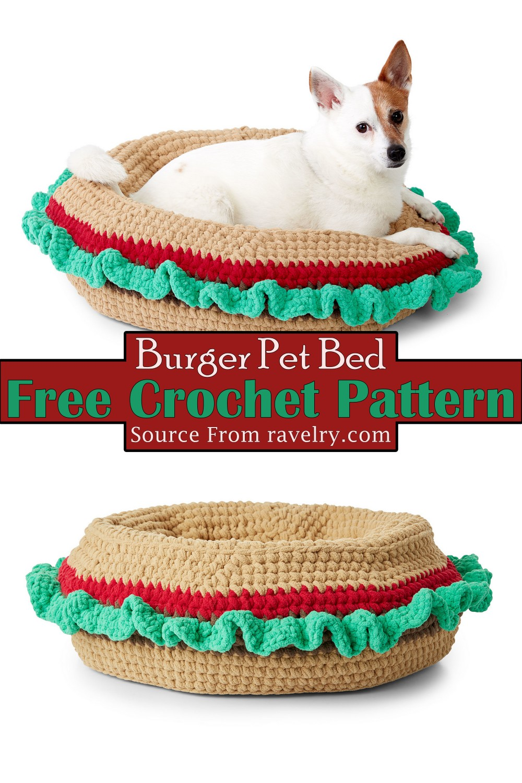 Crochet Burger Pet Bed Pattern