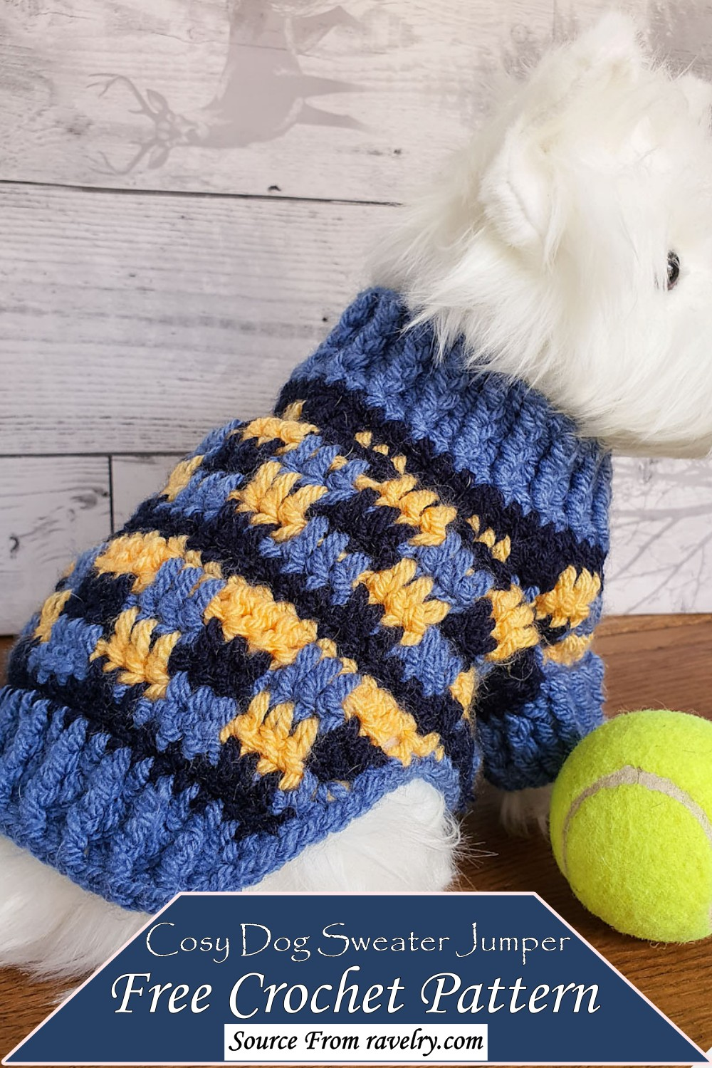 Cozy Sweater Jumper Pattern for your puppy