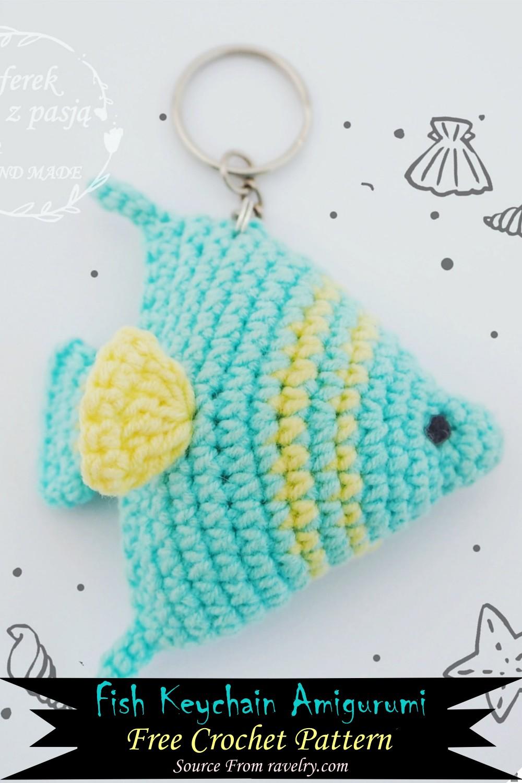 Crochet Fish Keychain Amigurumi Pattern