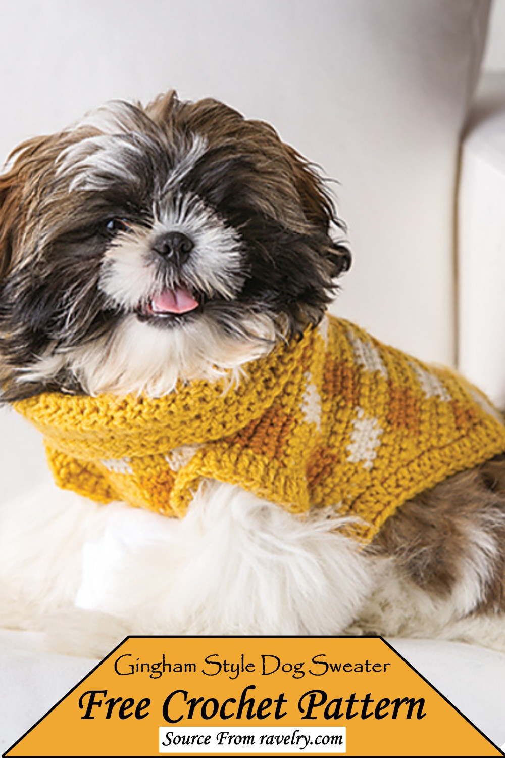Gingham Style Sweater Pattern for your pup