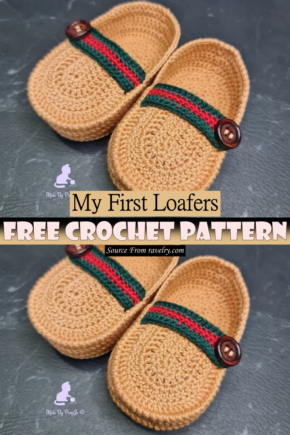Crochet My First Loafers Pattern