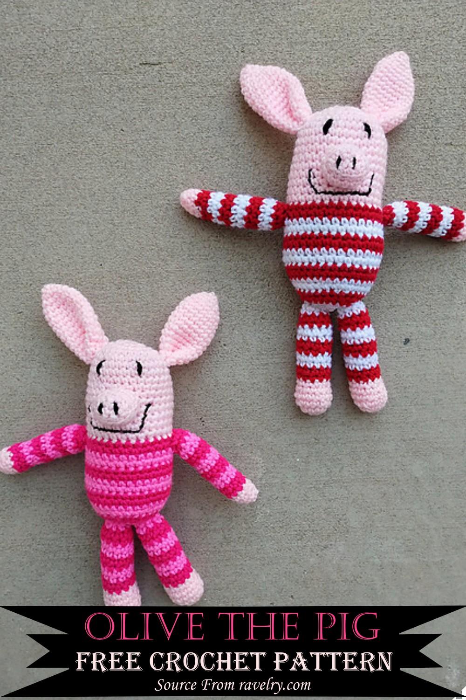 Crochet Olive The Pig Pattern