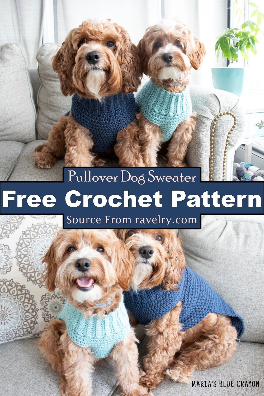 Crochet Pullover Dog Sweater Pattern