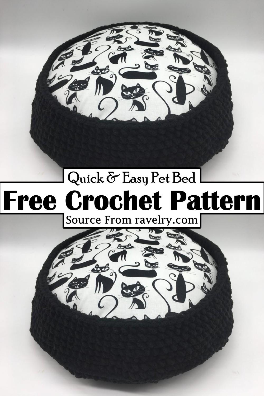 Crochet Quick & Easy Pet Bed Pattern