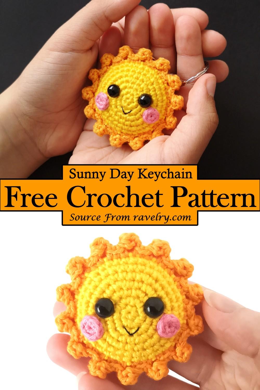 Crochet Sunny Day Keychain Pattern
