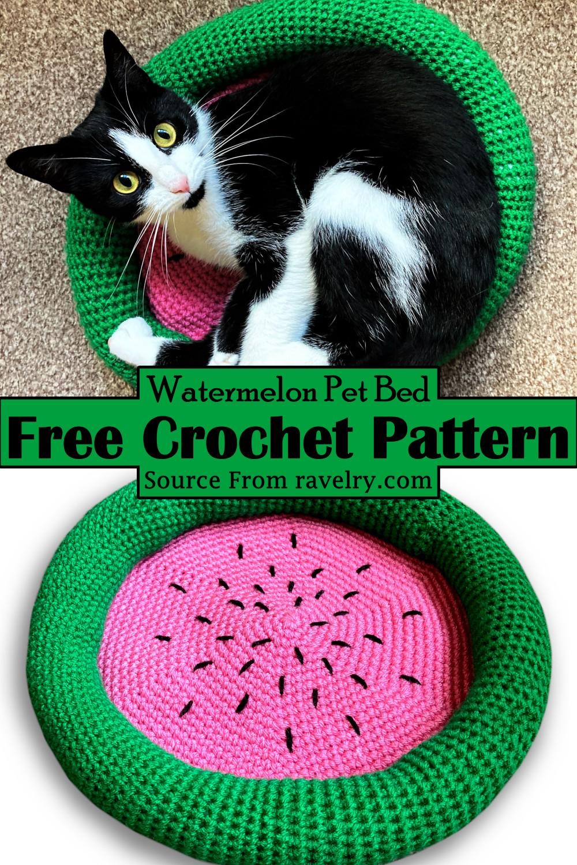 Crochet Watermelon Pet Bed Pattern