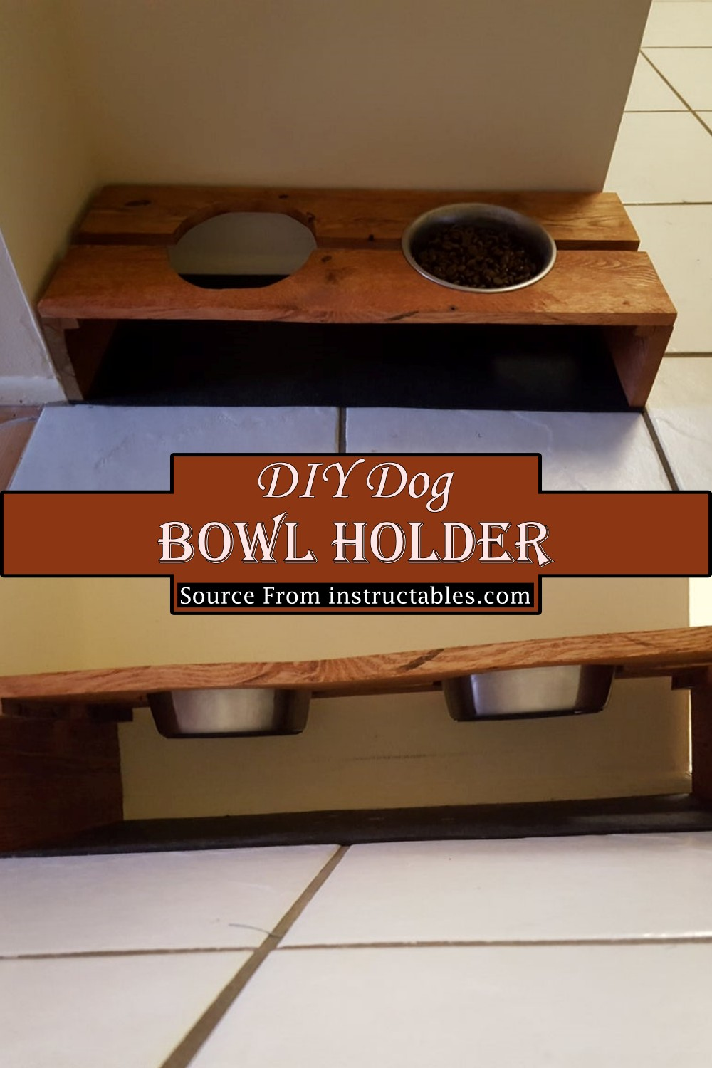 Wooden Food Holder For Your Pet
