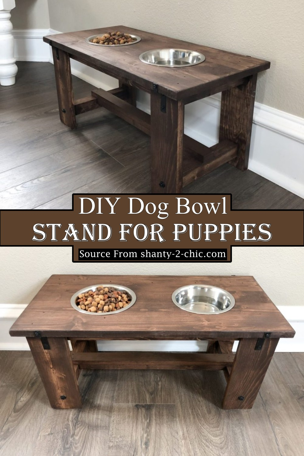 DIY Dog Bowl Stand For Puppies