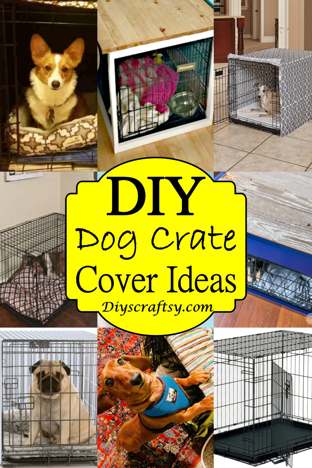 DIY Dog Crate Cover Ideas 1
