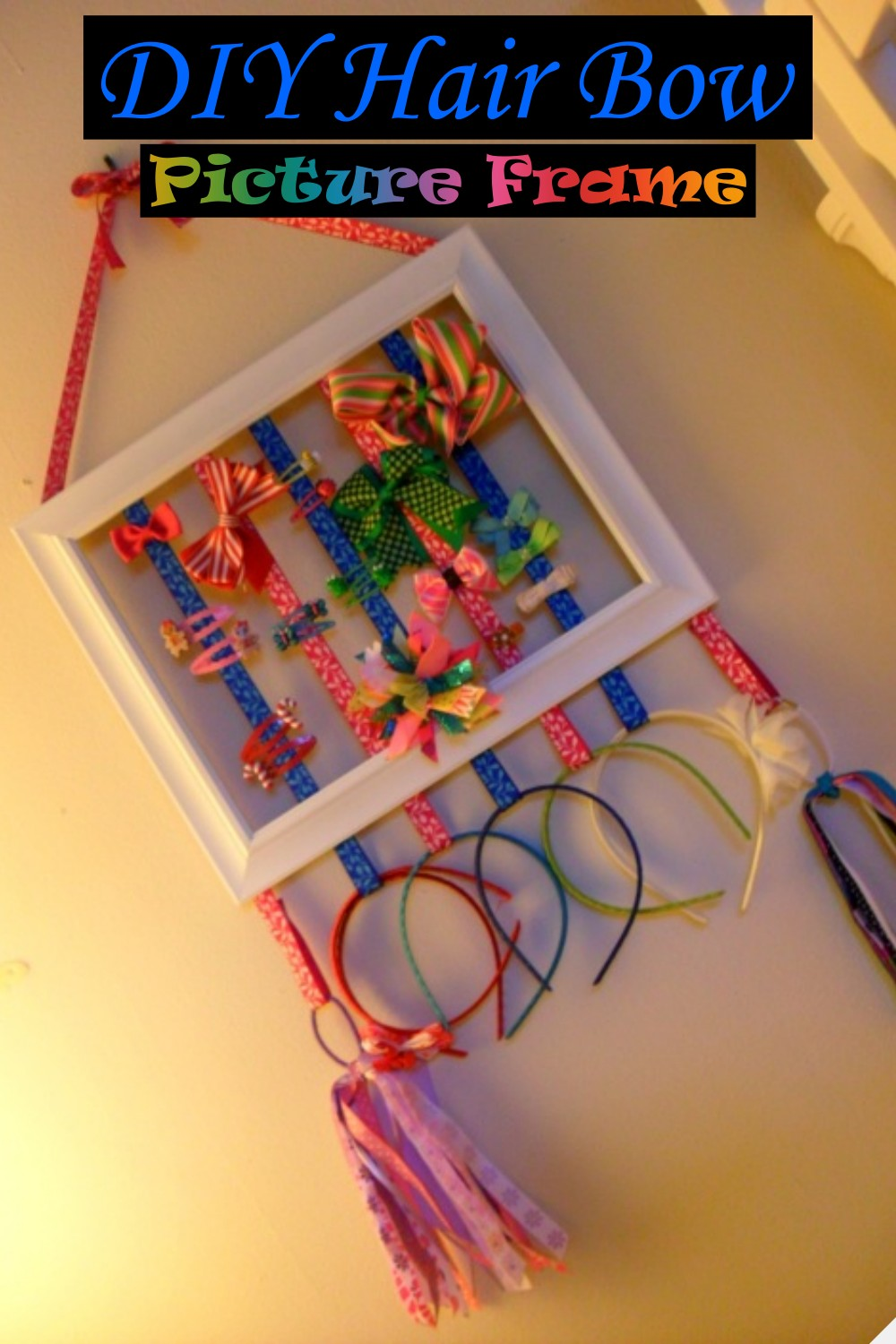 DIY Hair Bow Picture Frame