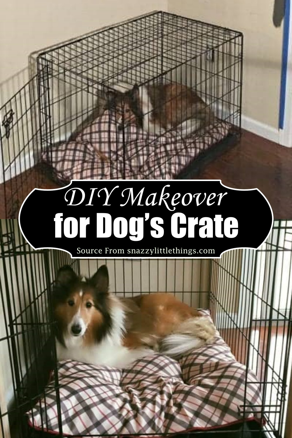 DIY Makeover for Dog's Crate