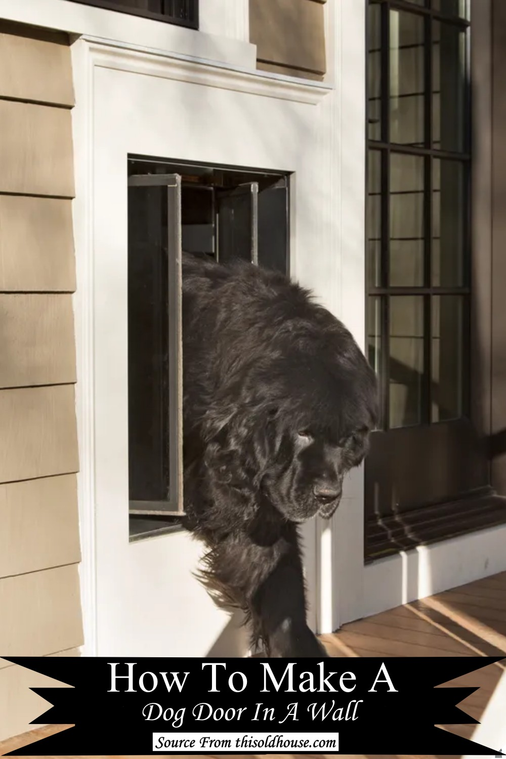 How To Make A Dog Door In A Wall