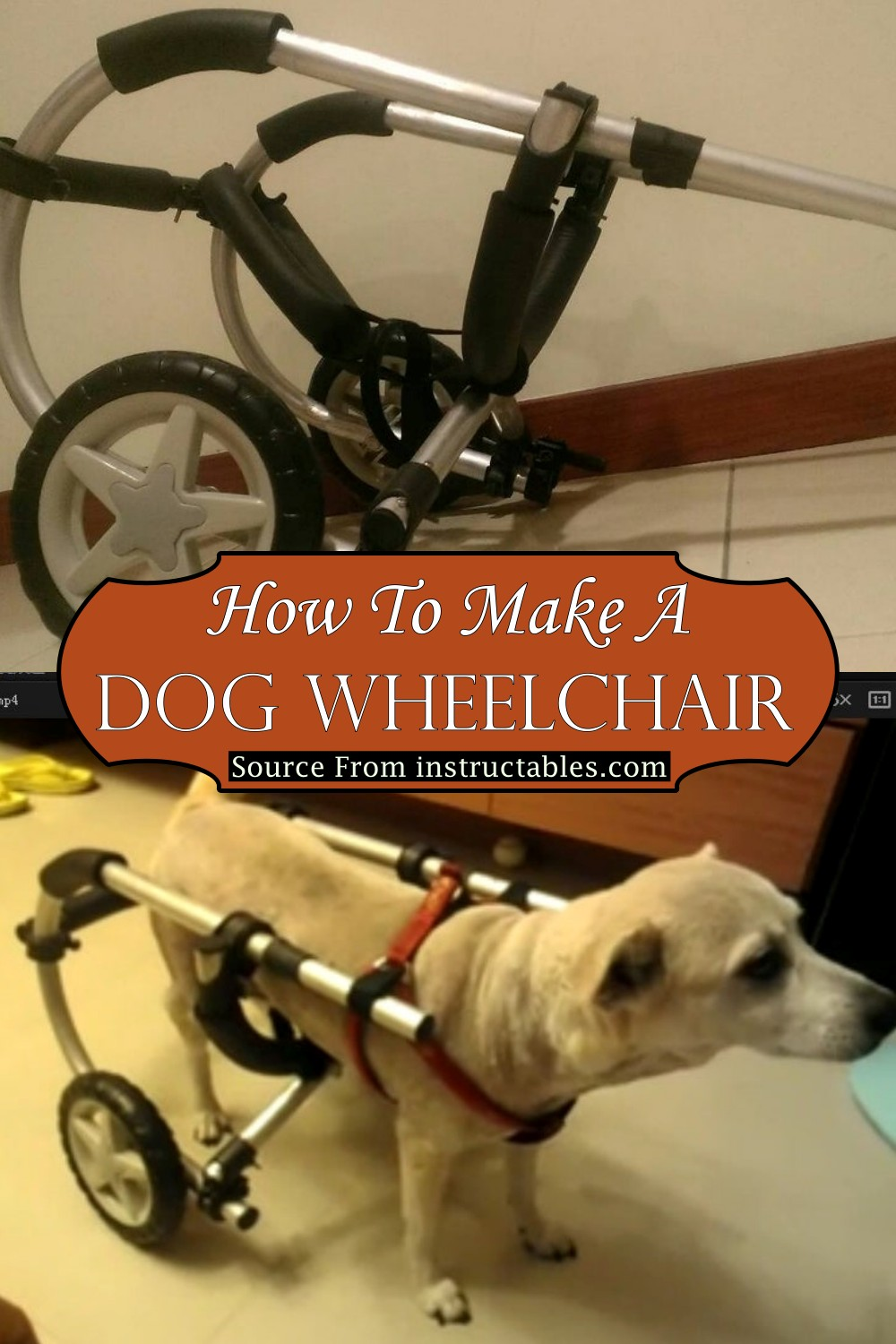 How To Make A Dog Wheelchair 1