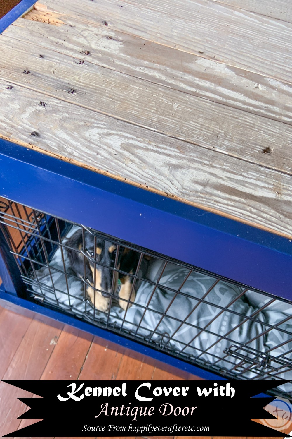 Kennel Cover with Antique Door