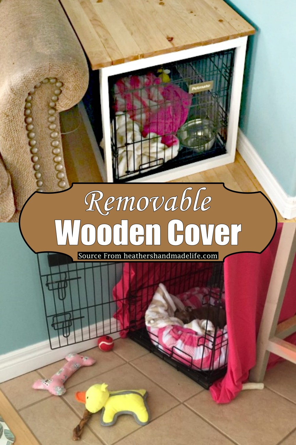 Removable Wooden Cover