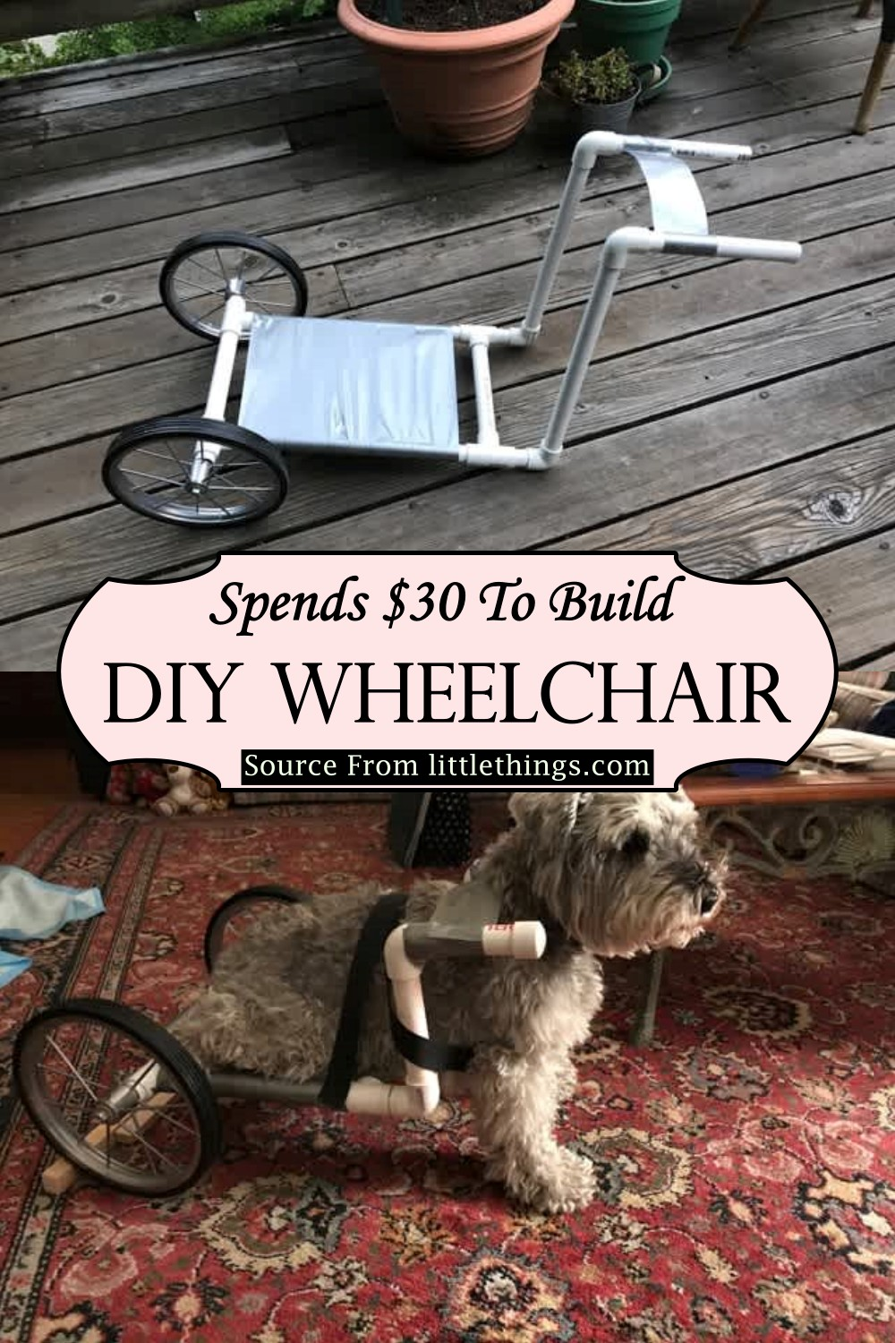 Spends $30 To Build DIY Wheelchair