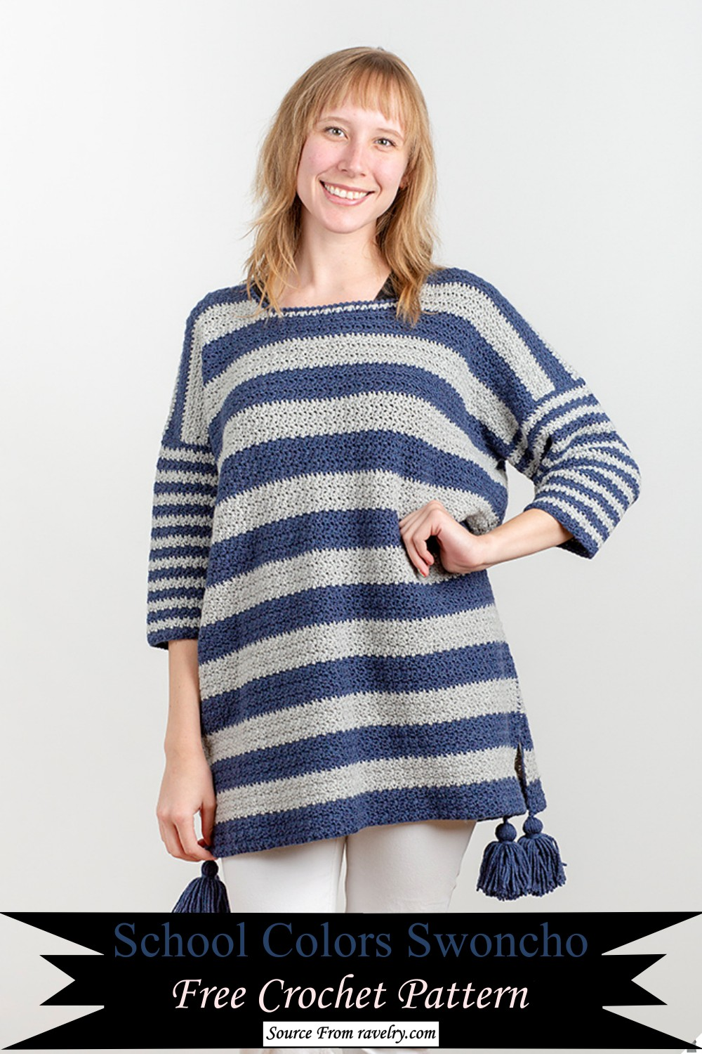 School Colors Pattern for long length sweater