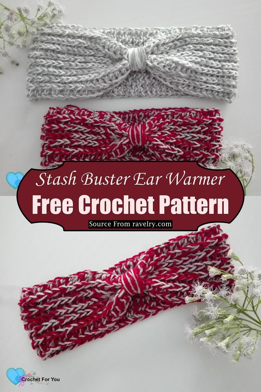 Crochet Stash Buster Ear Warmer Pattern