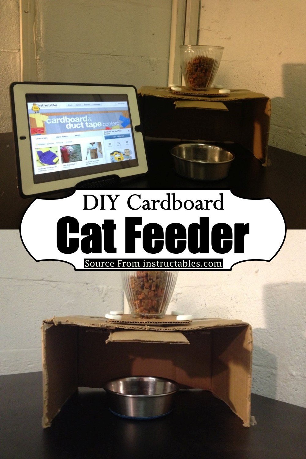 Cardboard Feeder for your pet