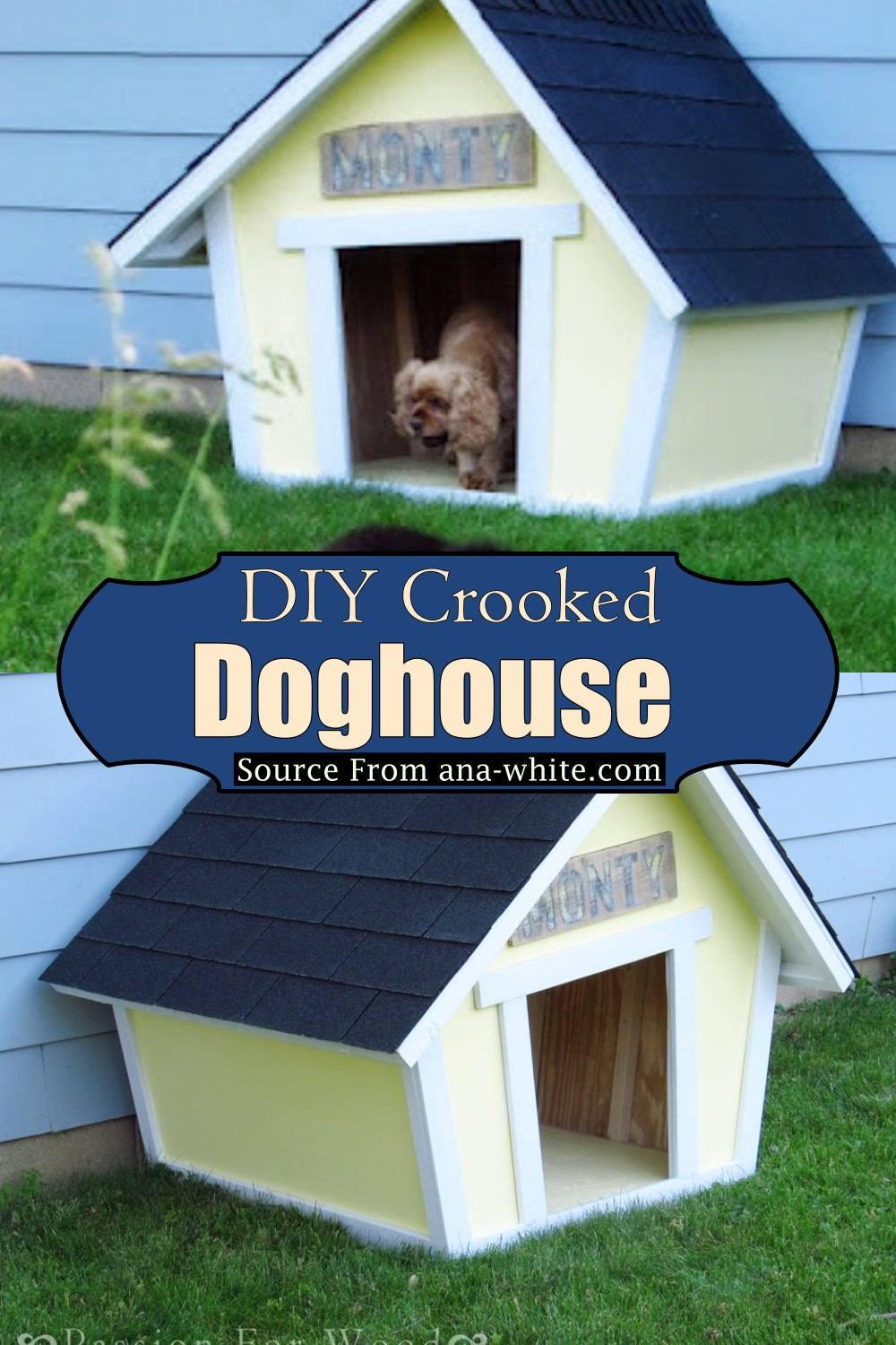 DIY Crooked Doghouse