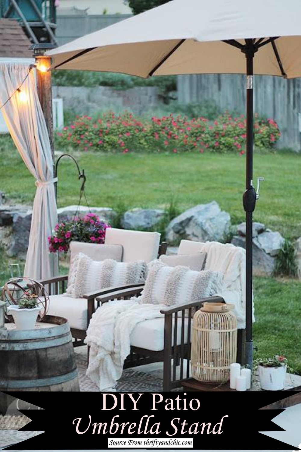 Patio parasol Stand for outdoor fun