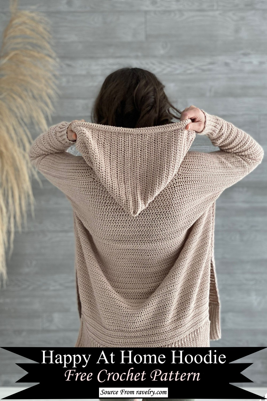 Happy At Home Hoodie Crochet Pattern