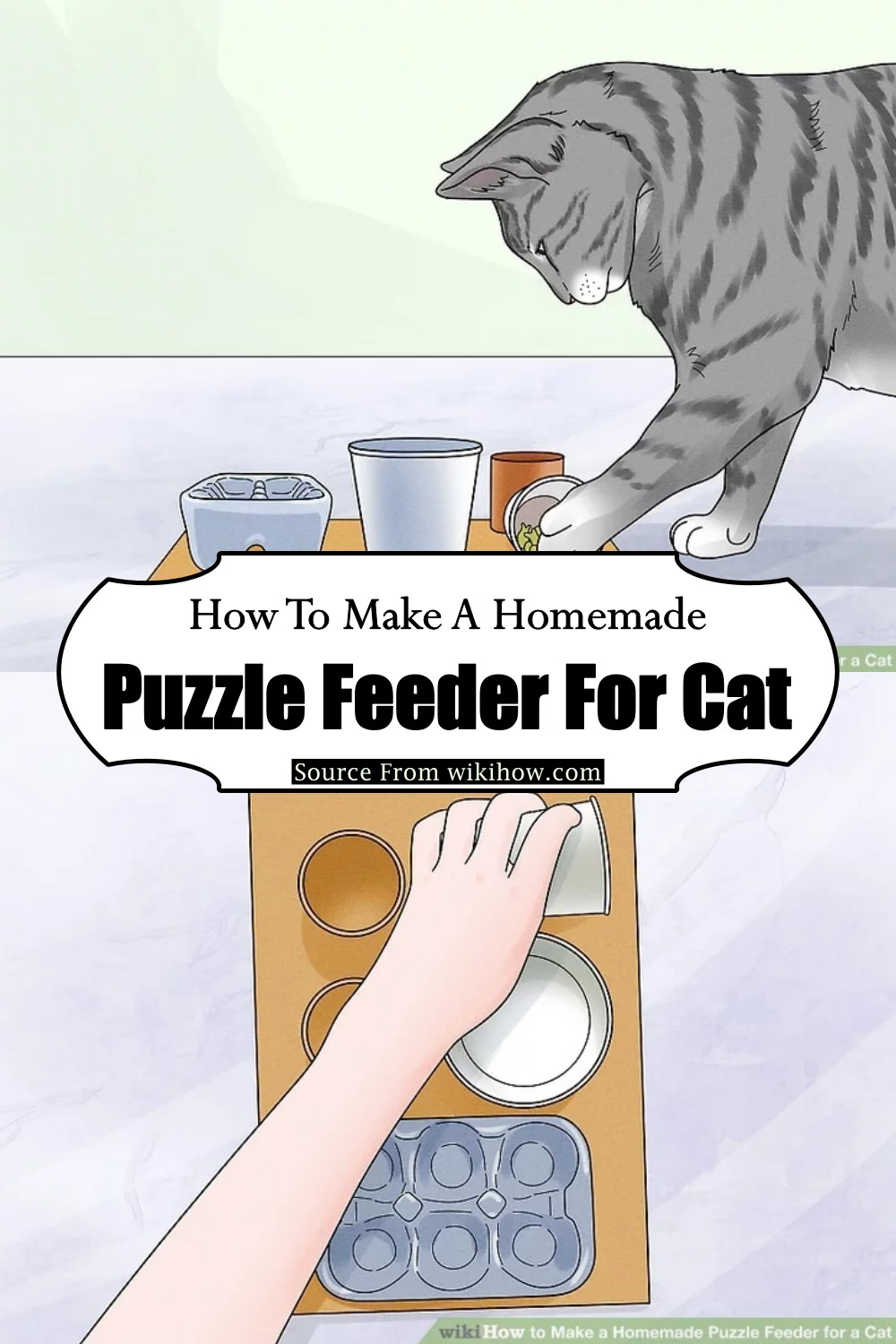 How To Make A Homemade Puzzle Feeder For Cat
